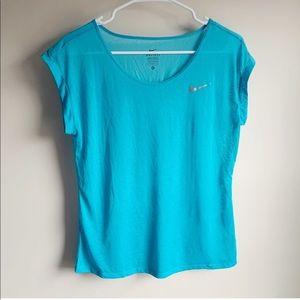 Nike Blue Running Light Short Sleeve Tee T-shirt